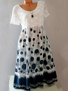 To find out about the Women's Blouses Round Neck Patchwork Polka Dot Shift Dress White, Summer Dresses, Womens Clothing, Size 8 Buzzyly at Buzzyly, part of our latest blouses ready to shop online today! Casual Dresses, Summer Dresses, Cheap Dresses, Shift Dresses, Dress Silhouette, Buy Dress, Short Sleeve Dresses, Clothes For Women, Fashion Jumpsuits