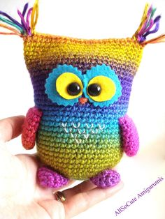 Crochet Pattern Owl Pattern Instant Download Crochet by AllSoCute