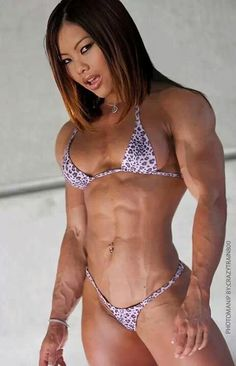 "Muscular asian beauty. "" More at BikinisAndMuscle.tumblr.com. """