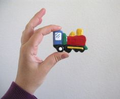 Red Train  Drawer Knob for kids room by Knobs on Etsy, $8.00