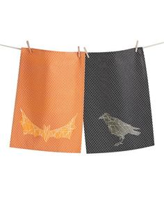 Take a look at this Crisscross Halloween Dish Towel - Set of Two by tag on #zulily today! 9
