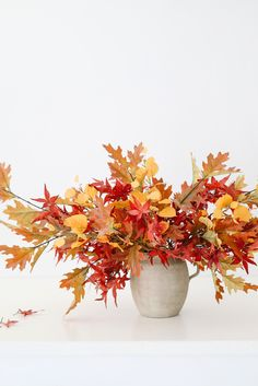 Bring in the colors of fall, without the fuss. Artificial fall leaves are your ticket to fall home decor without any mess or hassle. Shop fake fall leaves at Afloral.com. Fake Hydrangeas, Hydrangea Flower, Fake Flowers, Silk Flowers, Dried Flowers, Fall Wedding Flowers, Flower Bouquet Wedding, Fall Home Decor, Autumn Home