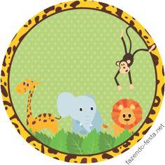 kit festa safari latinha