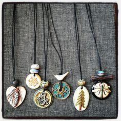 1 each of 5 different styles:  In Stock:  Pinecone heart (Mary Harding) with…