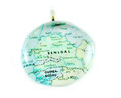 Senegal Map Pendant
