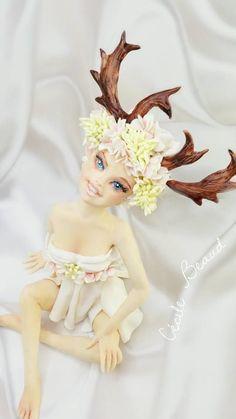 FairyLand :) Fondant Figures, Cecile, Sugar Art, Princess Zelda, Disney Princess, Fairy Land, Cake Art, Tinkerbell, Elsa