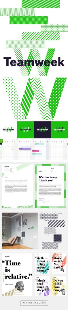 Brand New: New Logo and Identity for Teamweek by Fraktal - created via https://pinthemall.net