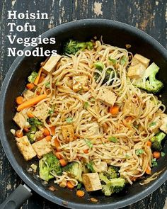 Reposting @advancedhealthmart: Tofu and Brown Rice Noodles in Hoisin Sauce - Recipes Visit our Twitter page to get the active link to the recipe.  #nutrition #diet #foodie #healthyeating #recipe #mmm