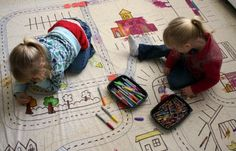 Shower Curtain Playmat by filthwizardry: Check out this clever idea for super fun play at home!