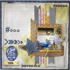 Today I would like to share two projects that I have completed using Kaisercraft's Garage Days Collection. Scrapbook Blog, Scrapbook Sketches, Scrapbooking Layouts, Scrapbook Cards, Kids Pages, Garage, Square Card, Card Tags, Projects To Try