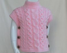 Knitting pattern fascination poncho and hat set all sizes etsy tied swimsuit cover up crochet pattern in adult sizes by Baby Knitting Patterns, Knitting For Kids, Easy Knitting, Baby Patterns, Poncho Pullover, Poncho Sweater, Pull Poncho, Diy Crafts Knitting, Vest Pattern