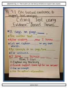 Cite Text Evidence - Advanced Readers - Complete Lesson