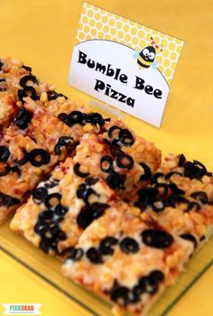 Bee Pizza by Pixiebear Party Printables