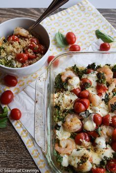 Shrimp, Kale and Quinoa Bake - Sign up for easy, healthy recipes at http://eepurl.com/bgGhFT