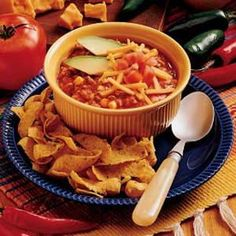 My family loves Mexican food so I came up with a soup which features all of those wonderful flavors. I serve this soup with tortilla chips on the side.—Roxanne Barone, Billings, Montana