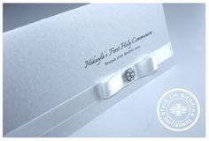 Bespoke design for Mikayla's First Holy Communion | Black Tie Wedding Invitations Blog