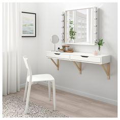 Excellent Photos EKBY ALEX / EKBY VALTER wall shelf with drawers - white, birch - IKEA Ideas Investing in a well-designed sofa is just a major decision and not one to produce lightly. Wall Shelf With Drawer, Ikea Wall Shelves, Drawer Shelves, Shelf Desk, Wall Desk, Vanity Shelves, Wall Mounted Desk Ikea, Ikea Shelves Bedroom, Mirror Desk