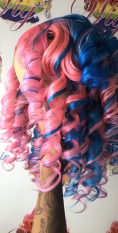 Colorful Lace Front Wigs, Sew In Weave Hairstyles, Bombshell Curls, Curly Hair Styles, Natural Hair Styles, Hype Hair, Colored Wigs, Beautiful Hair Color, Hair Skin Nails