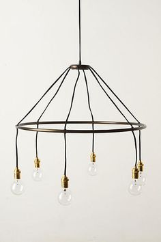 Anthropologie Halo Chandelier. Edison bulb. Modern industrial glam.