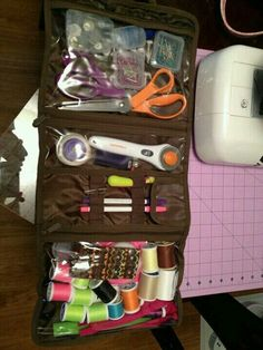 Thirty-One Timeless Beauty case for sewing supply storage