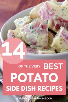 14 of the best potato recipes! From sweet potatoes to mashed red potatoes, lots of healthy potato side dishes to choose. Healthy easy recipes to pair with chicken, beef, ground beef or pork. Cold potato salad recipes too. #potato #recipes #sidedishrecipes #dinner #appetizer #dinnerpartymenu #menu Quick Healthy Meals, Healthy Side Dishes, Side Dishes Easy, Nutritious Meals, Side Dish Recipes, Easy Recipes, Potato Sides, Potato Side Dishes, Best Potato Recipes
