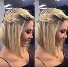 Penteado em cabelo curto