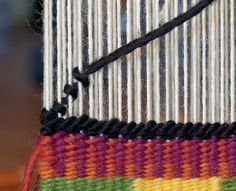 For this post I tackle two techniques in the CraftArtEdu Introduction to Tapestry Class: pick and pick and soumak knots. Pick and Pick Pick and pick is a method you'll hear about a lot. It cr… Pin Weaving, Weaving Art, Weaving Patterns, Tapestry Weaving, Loom Weaving, Basket Weaving, Weaving Wall Hanging, Art Textile, Weaving Projects