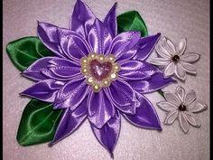 #09 - DIY - Flor de cetim / Kanzashi / Satin Flower. - YouTube