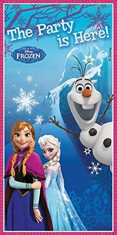 Unique Party 5 X 2.5 ft Disney Frozen Door Banner @ niftywarehouse.com #NiftyWarehouse #Frozen #FrozenMovie #Animated #Movies #Kids
