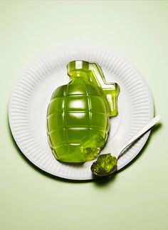 "I can give Gavin an ""army man"" birthday and serve these awesome jell-o hand grenades! HA!"