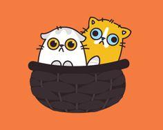 Kittens, in a basket.