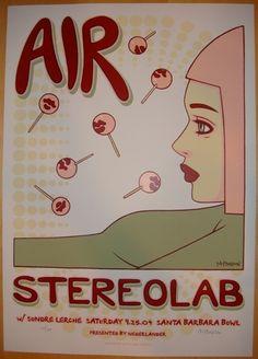 2004 Air & Stereolab Silkscreen Concert Poster by Tara McPherson