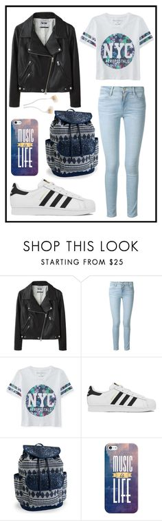 """""""#311 chilling :)"""" by xjet1998x ❤ liked on Polyvore featuring moda, Acne Studios, Frame Denim, Aéropostale, adidas, Casetify, women's clothing, women's fashion, women y female"""