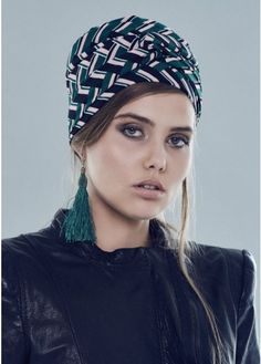 d81665867a8 Gucci Ready-To-Wear Turban in Green Pink Black White · Turban StyleHair  VideosHead WrapsHijab ...