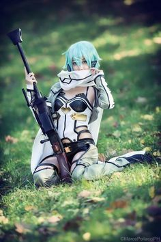 Cosplay Anime sinon from sword art online cosplay by aikaraincosplay Cosplay Anime, Sao Cosplay, Cute Cosplay, Cosplay Outfits, Best Cosplay, Cosplay Girls, Cosplay Ideas, Final Fantasy Cosplay, Anime Costumes