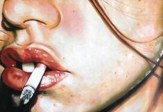 "Saatchi Art Artist Thomas Saliot; Painting, ""Close up side smoke (SOLD)"" #art"
