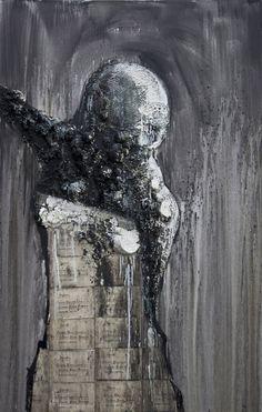 Gaetano Costa La sposa (96x149) poliuretano ed acrilico su tela 2010 polyurethane, acrylic and paper on canvas