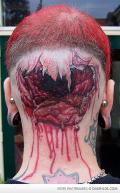 Awesome Tat!! Can you imagine being behind this guy at a resturaunt??