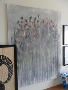 painting I did inspired by Caroline Wright, Katie Waddell Interiors