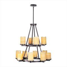 Maxim Lighting Luminous 12 Light Chandelier in Rustic Ebony   Nebraska Furniture Mart $1099.99.  SKU: 36593705.  UPC: 783209061613.   http://www.nfm.com/DetailsPage.aspx?productid=36593705