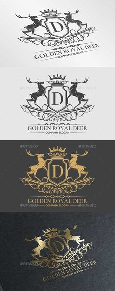 Golden Royal Deer Template #design Download: http://graphicriver.net/item/golden-royal-deer/10285539?ref=ksioks