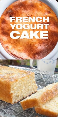 French Yogurt Cake Recipe - Authentic French dessert recipe from my grandmother Quick and easy with 6 ingredients only yogurtcake frenchcake masalaherb Quick Easy Desserts, Easy Cake Recipes, Baking Recipes, Delicious Cake Recipes, Pasta Recipes, Crockpot Recipes, Soup Recipes, Vegetarian Recipes, Chicken Recipes