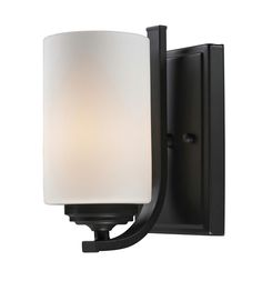 C161-2006-1S By Z-Lite Chambley Collection 1 Light Wall Sconce Oil Rubbed Bronze Finish