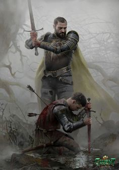 ArtStation - Coup de grâce, Lorenzo Mastroianni High Fantasy, Witcher Art, The Witcher, Medieval Knight, Medieval Fantasy, Fantasy Warrior, Fantasy Character Design, Character Art, Renaissance
