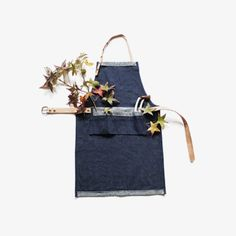 Cold Picnic for Emily Thompson leather and denim apron.