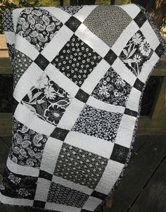 Black and White Shabby Chic Handmade Lap by HeartsHugsStitches, $168.00