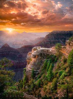 Yavapai sunrise (Grand Canyon, Arizona) by Dag Ole Nordhaug on 500px
