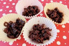 """Inspired By The New """"Skinny Cow"""" Candy...It's DIY Chocolate Crackle!  Fun To Make & Eat At Just 87 Calories Per Serving!!!"""