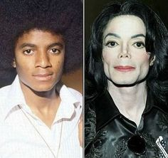 Michael. Unfortunate transformation, glad he didn't have any plastic surgery!
