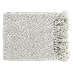Surya Tressa Cotton Throw Blanket Light Gray - TSS4004-5060